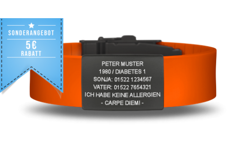 Elite iD - Black Edition Notfallarmband